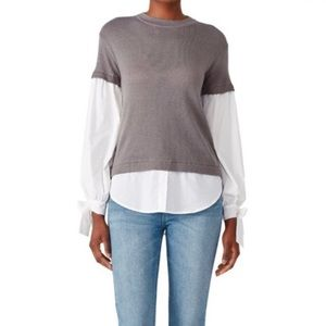 Devlin by PARKER Gray Flare Shirt Sweater